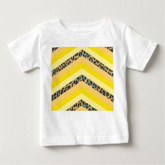 Trendy Yellow Cheetah Chevron Animal Pattern Print Baby T-Shirt