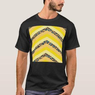 Trendy Yellow Cheetah Chevron Animal Pattern Print T-Shirt