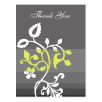 trendy  yellow gray ThankYou Cards