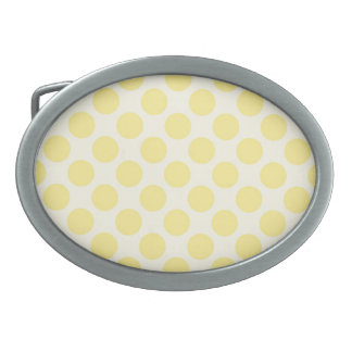 Trendy Yellow Polka Dots Pattern Citrus Fun Gifts Belt Buckle