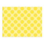 Trendy Yellow Polka Dots Pattern Citrus Fun Gifts Post Card