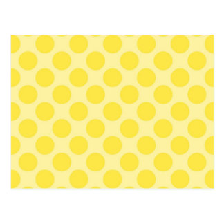 Trendy Yellow Polka Dots Pattern Citrus Fun Gifts Postcard