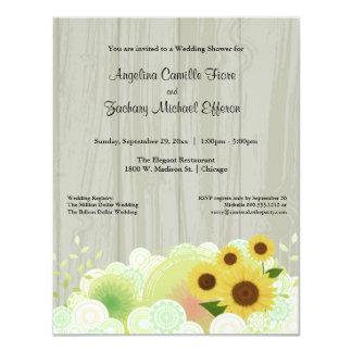 Trendy Yellow Sunflower Formal Shower Invitation