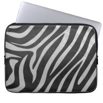 Trendy Zebra Animal Print Pattern created by Imagi Laptop Sleeve