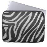 Trendy Zebra Animal Print Pattern created by Imagi Laptop Sleeves