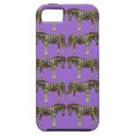 Trendy Zebra Artistic Pattern Purple iPhone Case iPhone 5 Case
