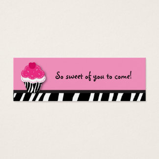 Trendy Zebra Cupcake Favor Gift Tags Mini Business Card