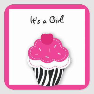 Trendy Zebra Cupcake Stickers Envelope Seals