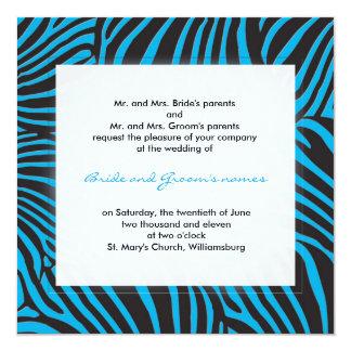 Trendy zebra - Deep sky blue Card