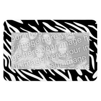Trendy Zebra Flexible 4 x 6 Magnetic Photo Frame Magnet