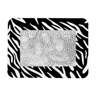 Trendy Zebra Print 4 x 6 Magnetic Photo Frame Vinyl Magnet