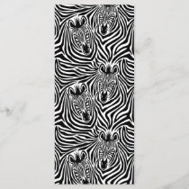 Trendy Zebra Print Black And White Pattern