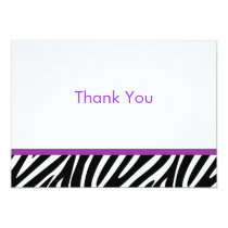 Trendy Zebra Print Flat Thank You Note Cards