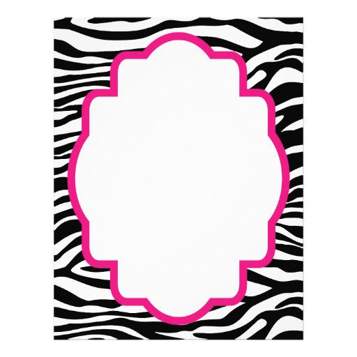 Trendy Zebra Print with Pink Customized Letterhead from Zazzle.