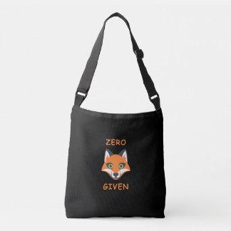 Trendy Zero Fox Given phrase Emoji Cartoon Crossbody Bag