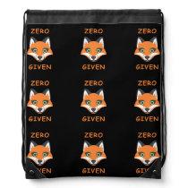 Trendy Zero Fox Given phrase Emoji Cartoon Drawstring Backpack