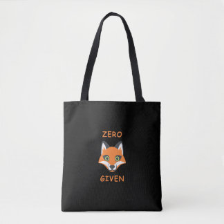 Trendy Zero Fox Given phrase Emoji Cartoon Tote Bag