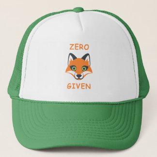 Trendy Zero Fox Given phrase Emoji Cartoon Trucker Hat