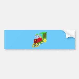 trenecito COLOURFUL CARTOON TRAIN kids graphics Bumper Sticker