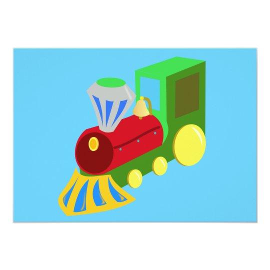 trenecito COLOURFUL CARTOON TRAIN kids graphics Card