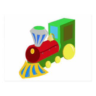 trenecito COLOURFUL CARTOON TRAIN kids graphics Post Card