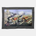 Trenes americanos del motor de vapor del ferrocarr toallas de cocina