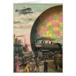 Trenes, aviones y todo tarjeta de felicitación