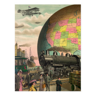 Trenes, aviones y todo tarjeta postal