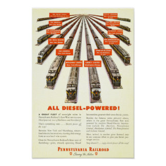 Trenes de ferrocarril de Pennsylvania - todo de mo Impresiones