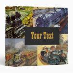 Trenes de ferrocarril del vintage