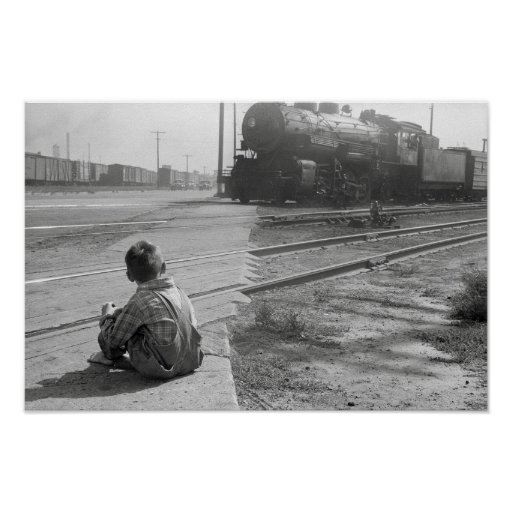 Trenes de observación del muchacho, 1939 poster