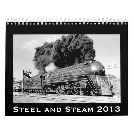 Trenes del acero y del vapor actualizados para 201 calendario