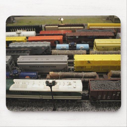 Trenes del juguete tapetes de ratón