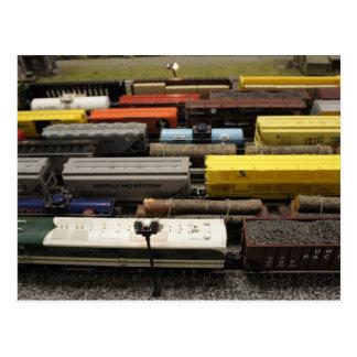 Trenes del juguete tarjetas postales