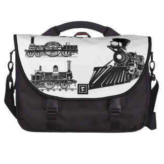 Trenes del vapor del Victorian - bolso de las loco Bolsas De Ordenador
