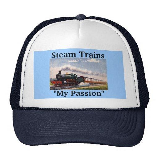 """Trenes del vapor, """"mi pasión """" gorras de camionero"""