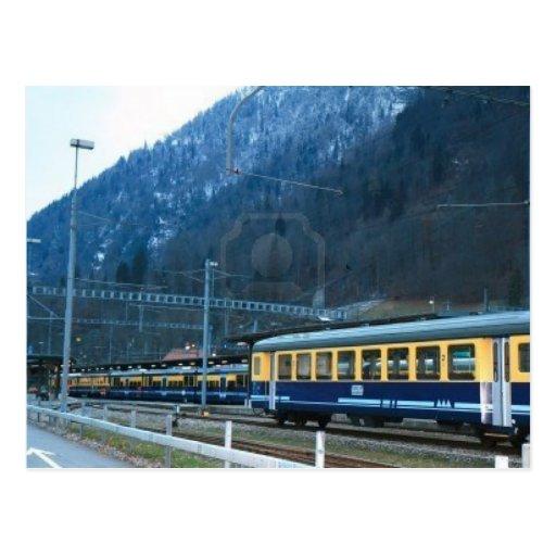 Trenes locales del suizo postal