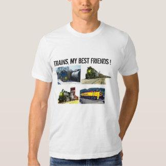 Trenes, mis mejores amigos playeras