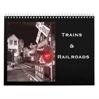 Trenes y ferrocarriles calendarios