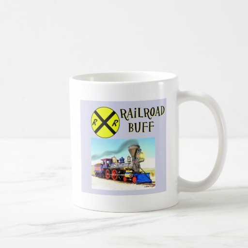 Trenes y pieles de ante del ferrocarril taza