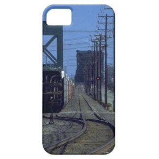 Trenes y pistas - curvas y puente iPhone 5 Case-Mate protectores