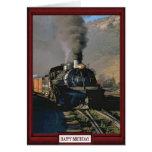 Trenes y pistas - tren de carga tarjeta de felicitación