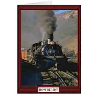 Trenes y pistas - tren de carga felicitación
