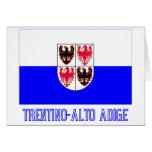 Trentino-Alto Adige flag with name Greeting Card