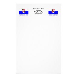 Trentino-Alto Adige flag with name Customized Stationery