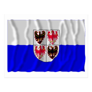 Trentino-Alto Adige waving flag Postcard
