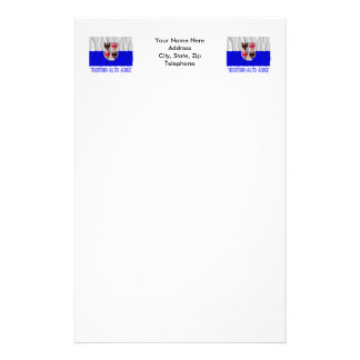 Trentino-Alto Adige waving flag with name Stationery Paper