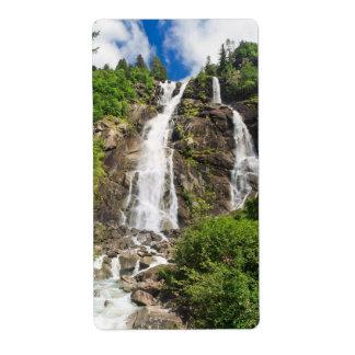 Trentino - Nardis Waterfall Shipping Labels