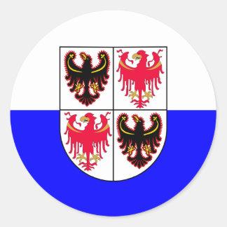 Trentino-South Tyrol, Italy flag Classic Round Sticker
