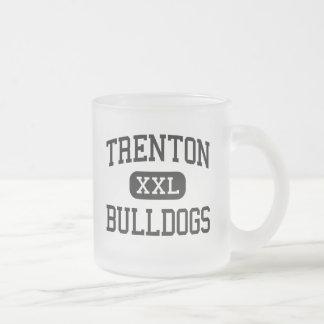 Trenton - Bulldogs - High - Trenton Missouri 10 Oz Frosted Glass Coffee Mug
